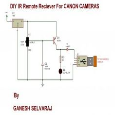 DIY IR Remote Receiver for Canon Cameras - Circuit Diagram