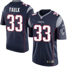 6b355130c Nike Limited Kevin Faulk Navy Blue Men s Jersey - New England Patriots  33  NFL Home