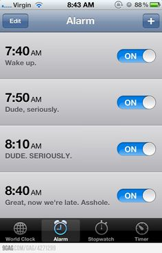 Good ol alarm