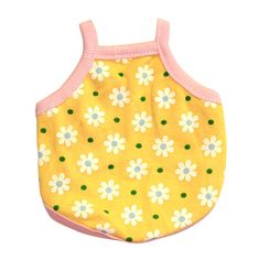 Guinea Pig Tank Top (Small Flowers on Yellow), $15.50