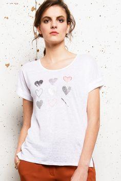 T-shirt Lin lovely - Ateliers de la Maille