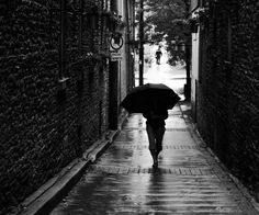 Walking Alone Black N WhiteI