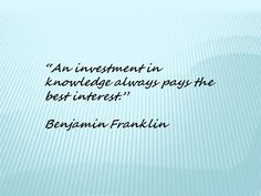 What are your investments?