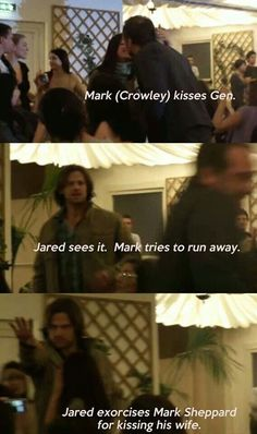 Jared tries to 'exorcise' Mark Sheppard for kissing Gen!