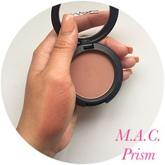 Best blush of all time! MAC Prism is my every day blush its so natural and goes great with every makeup look. for more product reviews and swatches click on the photo and check out my beauty account on Instagram