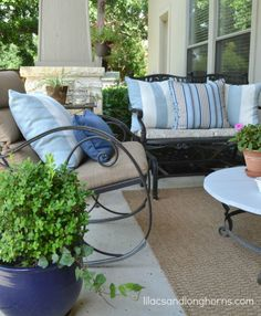 Summer at Home   Lilacs and Longhorns   Outdoor Decor