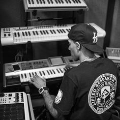 Education Through Imagination  @jahlilbeats in the studio. Los Angeles,CA  Green Collar Workers Tee - Available at L-R-G.com  #LRG #LRGsummer15 Photo by @shotbykvng
