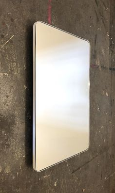 Bespoke rectangular quadris silver mirror with a white frame.  Contact us for a bespoke size or bespoke finish.  #rectangularmirror #whitemirror #silvermirror #bathroommirror White Mirror, Blue Mirrors, Console Table, Bespoke, Bronze, Rose Gold, Brass, Elegant, Silver