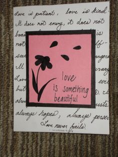 """Love Is.."" Card"