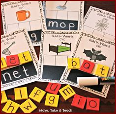 Build It-Write It and 2 other FREEBIES for learning and practicing short vowel sounds and CVC words!