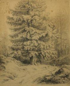 Strom u cesty-Antonín Mánes Czech Republic, Vintage World Maps, Trees, Garden, Painting, Art, Craft Art, Garten, Gardening