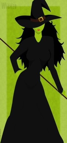 Wicked - Elphaba by ~Lordrea on deviantART. loved this Broadway musical! Wicked Musical, Wicked Witch, Musical Theatre, Land Of Oz, Defying Gravity, Yellow Brick Road, The Villain, Wizard Of Oz, Wiccan