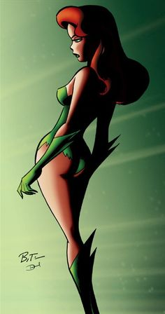 ✭ Poison Ivy by Bruce Timm Xx Bruce Timm, Anime Sexy, Dc Anime, Comic Book Characters, Comic Books Art, Comic Art, Dc Comics, Comics Girls, Dc Poison Ivy