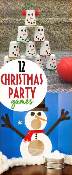 Budget friendly Christmas party games every kid will love. Quick and easy planning for school class Christmas parties. Minute to Win it games for all ages.