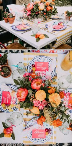 Vibrant tablescape inspired by Cinco de Mayo - and perfect for summer weather!