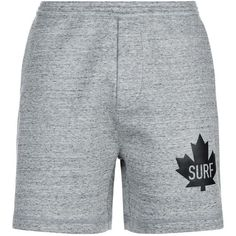 DSquared2 Marl Maple Leaf Shorts ($340) ❤ liked on Polyvore featuring men's fashion, men's clothing, men's activewear, men's activewear shorts and dsquared2