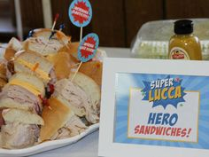 Superhero birthday party food. So creative! #diy http://www.ivillage.com/real-party-themes-superhero-spiderman-superman/6-a-511207