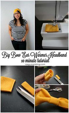How to make an easy bow headband - Rae Gun Ramblings #make #headband #bow