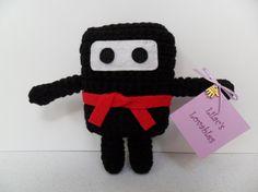 5 inch Mini Ninja Plush  Black by LilacsLovables on Etsy, $20.00