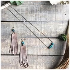 """12 Likes, 1 Comments - Sweet Creek Leather (@sweetcreekleather) on Instagram: """"✨TURQUOISE✨ These Leather Fringe Earrings with Turquoise aren't on our website. If you're…"""""""