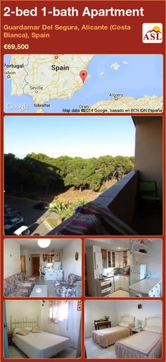2-bed 1-bath Apartment in Guardamar Del Segura, Alicante (Costa Blanca), Spain ►€69,500 #PropertyForSaleInSpain