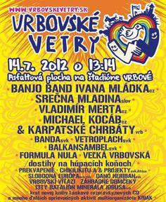 Vetroplach Vrbovské vetry leto 2012 festival hudba music vrbové City Life, Posters, Music, Muziek, Postres, Musik, Banners, Billboard, Poster