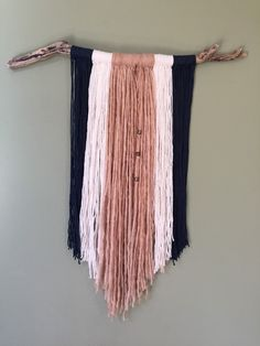 Wall Hangings Etsy large yarn wall hanging | ombre wall hanging | tapestry | boho