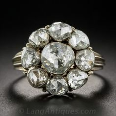 Georgian Style Rose Cut Diamond Cluster Ring - What's New