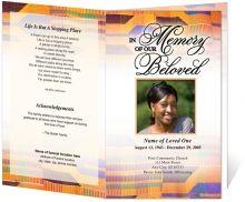 obituary layout