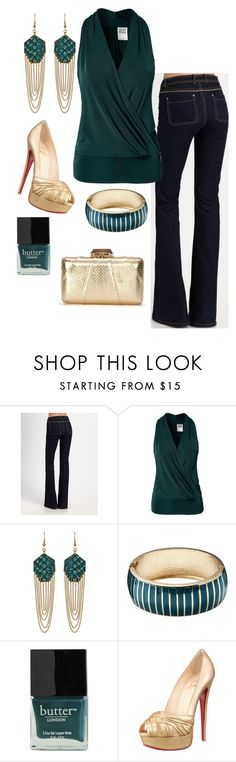 """""""Date Night"""" by honeybee20 ❤ liked on Polyvore featuring Rachel Zoe, Vero Moda, Holy Harlot, Butter London, Christian Louboutin and KOTUR"""
