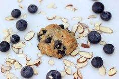 Grain-Free Blueberry Almond Breakfast Cookies {Gluten-free + Vegan}