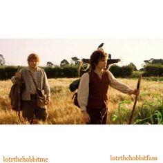 2 hobbits leaving the Shire #Sam #SeanAstin @seanastin #Frodo #ElijahWood @elijahwood #LOTR #FOTR #theshire