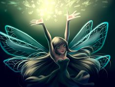 Real Fairy by fantazyme on DeviantArt Real Fairies, Fairy Coloring, Princess Art, Fairy Art, Winx Club, Magical Girl, Faeries, Mystic, Fantasy Art