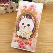 Boutique Meow Star People Cat Wallet Purse Personality Cartoon Fashionable Stamp Purse Wallet Wholesale(China (Mainland))