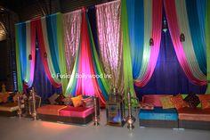mehendi decor Wedding Backdrops, Mehendi, Curtains, Home Decor, Net Curtains, Homemade Home Decor, Decoration Home, Draping, Window Scarf