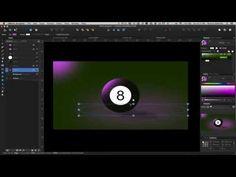 Affinity Designer Tutorial - Shading Techniques Using Gradients Tools - YouTube