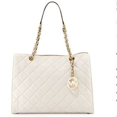 Large Susannah Quilted Leather Tote Bag, Vanilla - GOT IT>>>>>LOVE IT