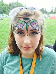 Aztec mask facepaint