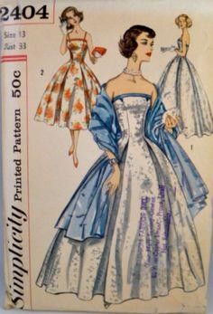 Vintage 50s Simplicity 2404 Pattern Misses by VintageNeedleFinds,