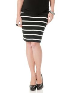 A Pea in the Pod: Under Belly Knee Length Pencil Fit Maternity Skirt A Pea in the Pod. $29.99