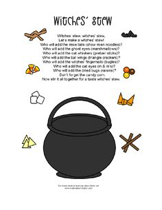 Mrs Home Ec: Halloween Lesson Plan  Halloween party station, make your own witches brew.