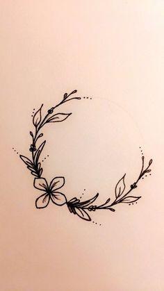 Mini Tattoos, Flower Tattoos, Body Art Tattoos, Small Tattoos, Tattoo Floral, Turtle Tattoos, Tribal Tattoos, Tattoo L, Wreath Tattoo