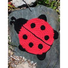 Ladybug Dishcloth