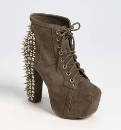 416f329cc16 Spike Lace Up Bootie by Jeffrey Campbell  shoes  fashion  boots Shoes Heels  Boots