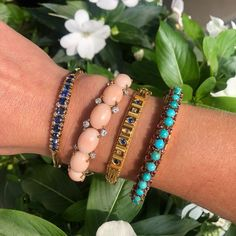 Sunny skies and sparkly wrists! We are loving these colorful bangles included in the upcoming Essential Jewelry sale! Sale begins at 10am CT, August 25! Coin Bracelet, Snake Bracelet, Garnet Bracelet, Pearl And Diamond Ring, Diamond Bangle, Diamond Pendant, Cameo Pendant, Pearl Pendant, Cameo Jewelry