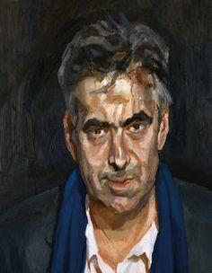 Man in a Blue Scarf by Lucian Freud 2004