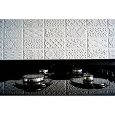 By @wnetrzagalewska | Instagram | vives azulejos y gres | vives ceramica | mugat | rivoli | white tiles Unique Tile, Interior S, Art Nouveau, Tiles, Kitchen Appliances, Instagram, Black, Kitchens, Home