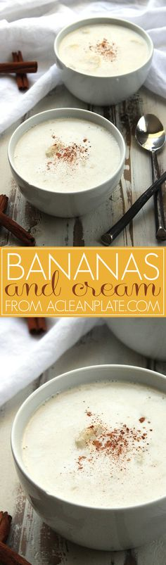 Dairy-free, autoimmune protocol Bananas and Cream recipe from A Clean Plate