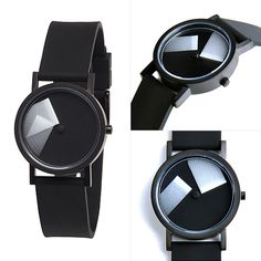 The Déjà Vu watch is the latest work of Italian designer Denis Guidone for Projects. I like how the gradient represents the passage of time. Cool Watches, Watches For Men, Black Watches, Marble Watch, Geometric Shelves, Mens Designer Shirts, Gq Style, Watch Faces, Breitling