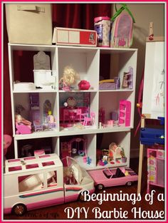 As a little girl, I absolutely loved playing with Barbies. I honestly think that may have been where my love for decorating started. I sti. Kids Doll House, Barbie Doll House, Barbie Dolls, Wooden Dollhouse, Dollhouse Furniture, Home Furniture, Ashley Nicole, Miniature Crafts, Hello Dolly